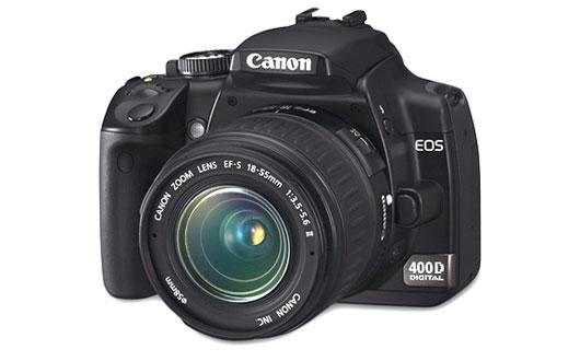 Canon EOS 400D Body - зеркальный цифровой полупрофессиональный фотоаппарат, цена Canon 400D body, инструкция и описание фотоаппарата