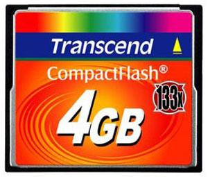 Флеш карта на 4GB Transcend CompactFlash CF