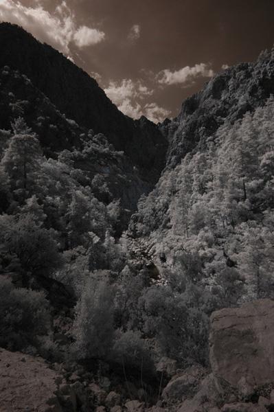 Инфракрасная фотосъемка в горах